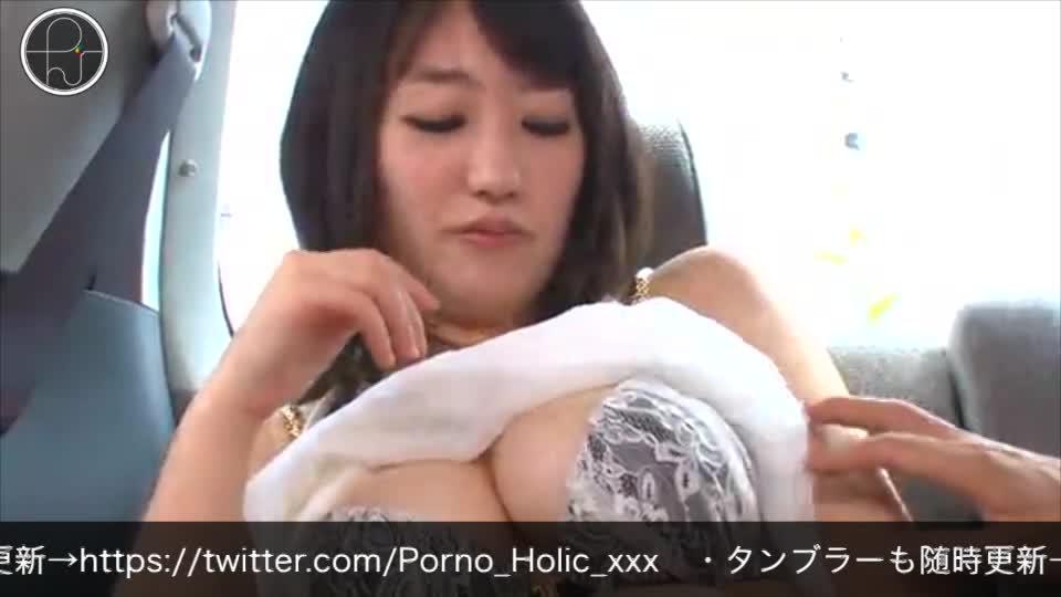 アンケートと称してナンパした巨乳若妻に車の中でエッチなお願い!